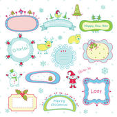 Doodle Christmas frames — Vettoriale Stock