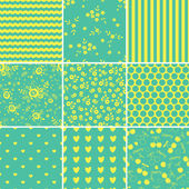 Set of abstract seamless patterns — Stock Vector