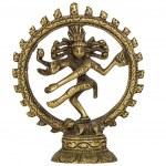 Shiva Nataraja, isolated on white background — Stock Photo