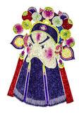 Maschera opera di tradizione cinese, isolato su sfondo bianco — Foto Stock