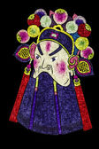 Chinese tradition opera mask, isolated on black background — Stok fotoğraf