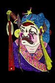 Chinese tradition opera mask, isolated on black background — Foto Stock