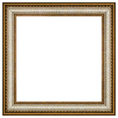 Vintage picture frame, white background, with clipping path — Stock Photo