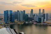 Singapore skycrapers — Stock Photo