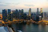 シンガポール skycrapers — ストック写真
