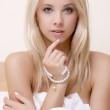 Beautiful adult sensuality woman — Stock Photo