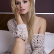Beautiful blonde in bed — Stock Photo #13157265