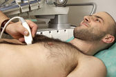 Cardiac ultrasound examination — Stock Photo