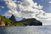 Tropical beach in Carribean — Stock Photo