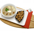 Stock Photo: Cream soup with croutons