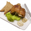 Stock Photo: Knuckle of pork on plate