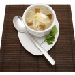 Soup in a white bowl — Stock Photo