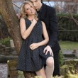 Portrait of young couple in love posing — Stok fotoğraf #36656787