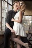 Portrait of young couple in love posing  — Stock Photo