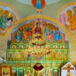 Stock Photo: Interior of rural church. Russia