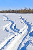 雪的方式 — 图库照片