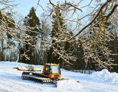 Preparation of the ski track — Стоковое фото