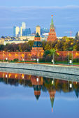 Moscow Kremlin against Moscow City — Stock Photo
