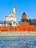 Moscow Kremlin in cold winter — Foto Stock