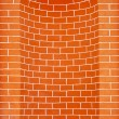 Brick wall with niche — Stock Photo #19654385