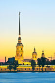 Peter and Paul Fortress and Cathedral — Stock Photo