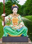 Çinli bir kadın heykeli — Stok fotoğraf