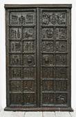 Сast bronze gates — Stock Photo
