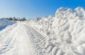 Winter road — Stock fotografie