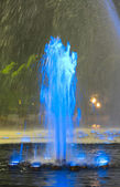 Night fountain in Gorky Park, Moscow, Russia — Stock Photo