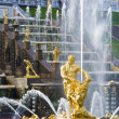 Samson Fountain and the Grand Cascade — Foto Stock