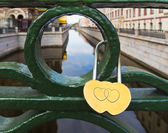 Love padlock — Stock Photo