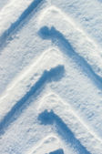 Track on snow — Stock Photo