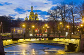 Evening in St.-Petersburg, Russia — Stock Photo