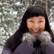 Royalty-Free Stock Photo: Asian girl in mittens
