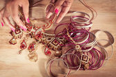 Indian jewelry — Stock Photo