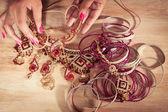 Indian jewelry — Stock Photo