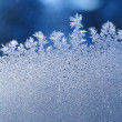 Ice frost window - Stock Photo