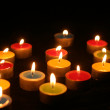 Closeup of burning candles — Stock Photo