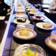 Conveyor belt sushi - Stock Photo