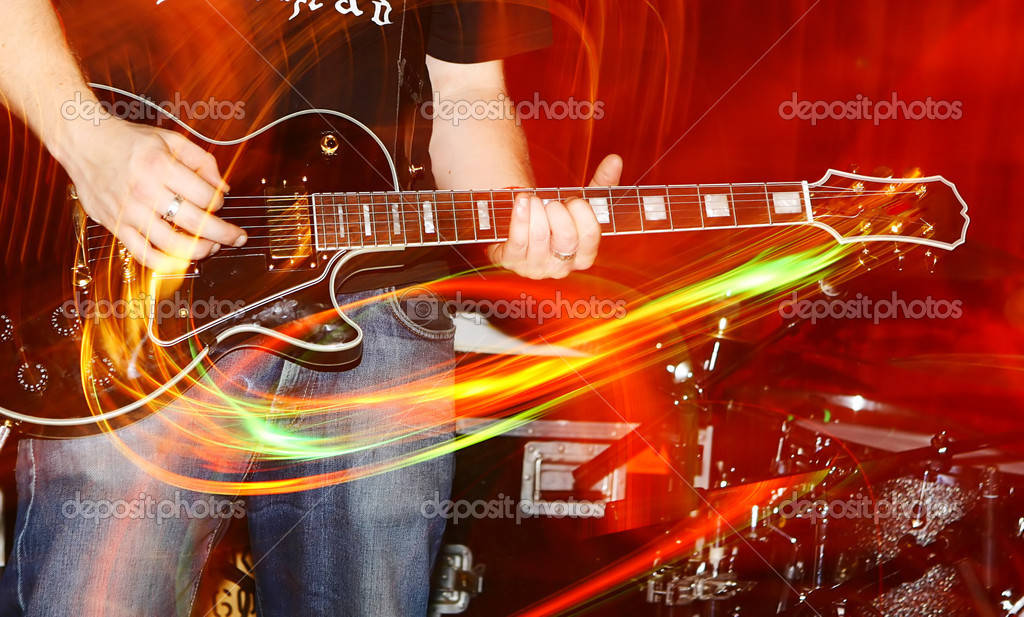 At a live concert, motioneffect, — Stock Photo #16217593