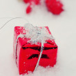 Christmas decoration snow — Stock Photo