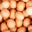 Horizontal base with natural eggs - Stock Photo