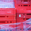 Colour plastic boxes — Stock Photo