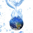 Earth  water concept global warming — Stock Photo