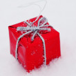 Christmas decoration snow — Stockfoto