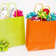 Christmas shopping bag — Stock Photo