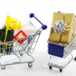 Shopping at Christmas - Christmas Shopping — Stock Photo