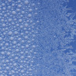 Frost ice crystal on window — Stock Photo
