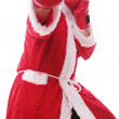 Santa Claus Boxing — Stock Photo