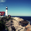 Foto Stock: Portland Head Lighthouse, Portland, Maine